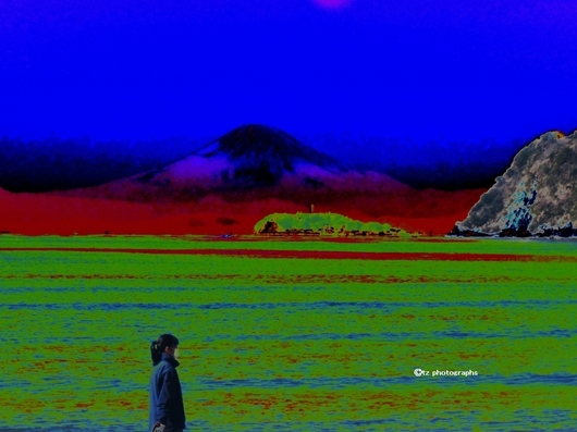 Mt. Fuji from hayama-zushi Beach.jpg